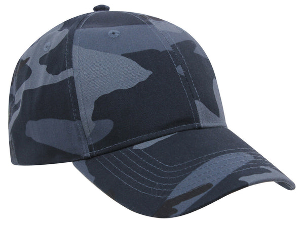Low Profile Dark Blue Camo Cap Hat Ballcap Camouflage Rothco 7960