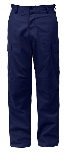 Military Cargo Fatigue BDU Style Pants Midnight Blue Zipper Fly Rothco 5775