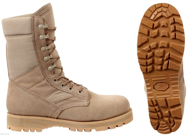 "Desert Tan Military Boots Sierra Sole 8"" Tactical Desert Boot rothco 5257"