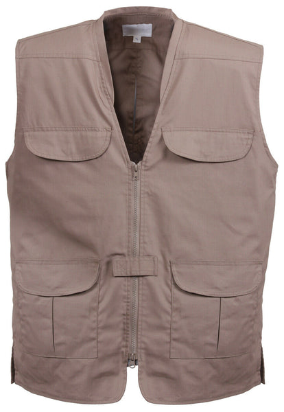 CCW Tactical Travel Vest Lightweight Concealed Carry Khaki Rothco 86700