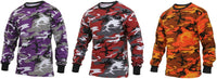 LS T-shirt Violet Red Orange Camo Long Sleeve Camouflage Three Pack Rothco 3136