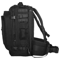 black backpack military look jumbo modular field pack fox outdoor 56-581