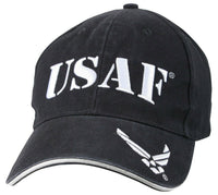 Military USAF Air Force Ballcap Cap Hat Vintage Style Navy Blue Rothco 9886