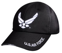 Mens USAF US Air Force Baseball Cap Hat Black Mesh Back Rothco 8954