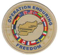 Military Afghanistan Coalition Forces Patch Operation Enduring Freedom OEF NATO