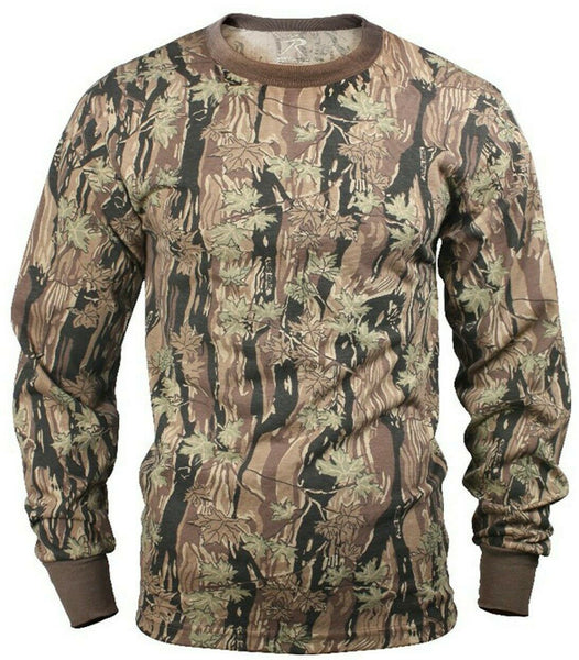 LS Camo T-shirt Long Sleeve Smokey Branch Hunting Camouflage Rothco 6770
