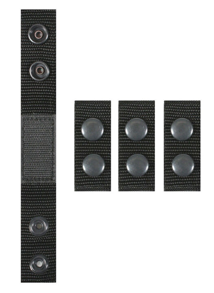Belt Keepers Black Enhanced  (4 Piece Set) for duty belt rothco 20584