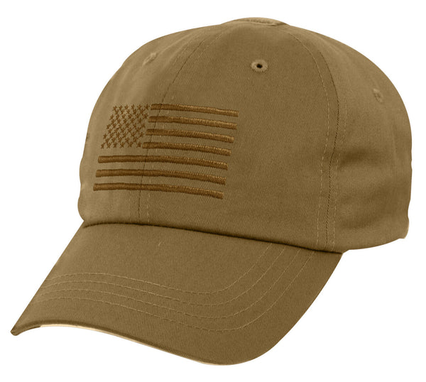 Tactical Baseball Cap Operator Hat Ballcap Coyote Brown USA US Flag Rothco 4639