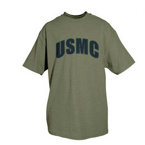 t-shirt usmc marines olive drab various sizes fox outdoor 64-562