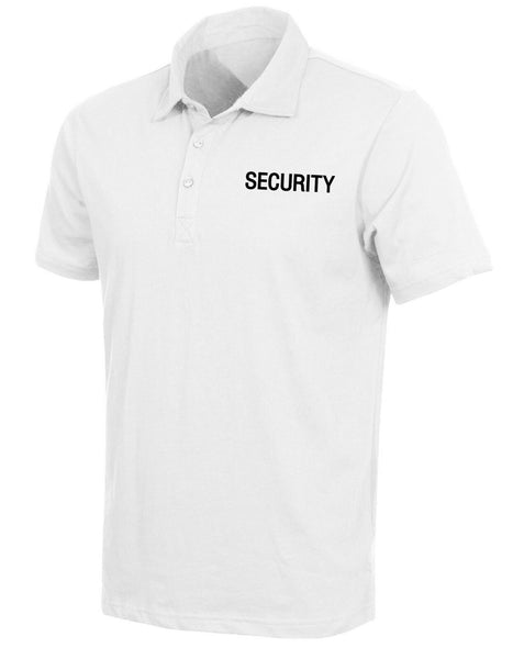 Mens White Security Polo Shirt Performance Fabric Moisture Wicking Rothco 3211