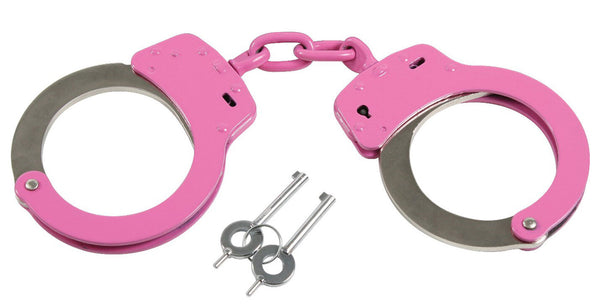 Pink Handcuffs With Keys And Belt Loop Pouch Rothco 10887