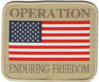 Military USA Flag Patch Operation Enduring Freedom Afghanistan OEF NATO