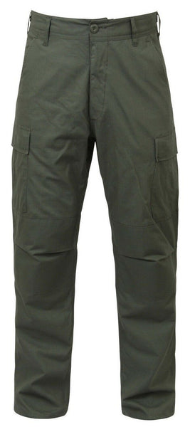 bdu pants olive drab cotton rip stop military style various sizes rothco 5935