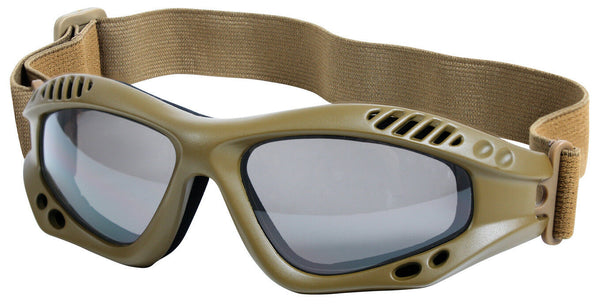 Tactical Goggles Coyote Brown Lightweight UV 400 Protection Rothco 10376
