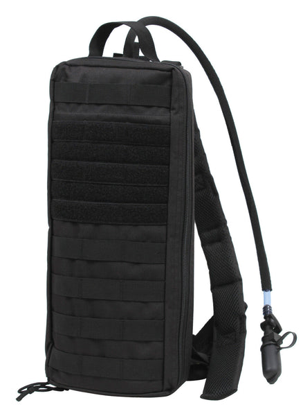 Tactical Hydration Pack With Bladder Molle Attachable Black Rothco 2964