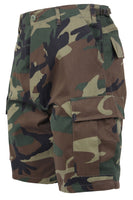 shorts camo military bdu style woodland camouflage mens rothco 65212