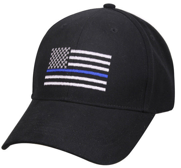 Police Thin Blue Line Hat Baseball Cap Ballcap US USA Flag Rothco 99885