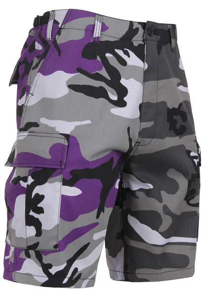 Mens Two Tone Camo BDU Shorts Ultra Violet Purple City Camouflage Rothco 1820