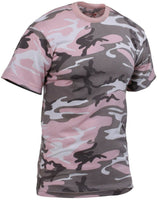 camo t-shirt subdued pink camouflage cotton poly blend rothco 8681
