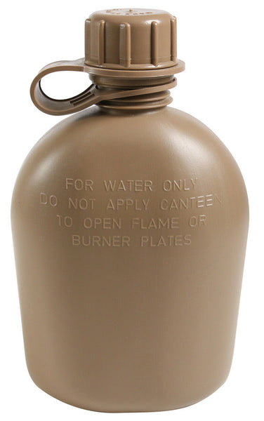 Coyote Brown GI 1 Quart OCP Plastic Canteen US Made Military Bottle Rothco 936