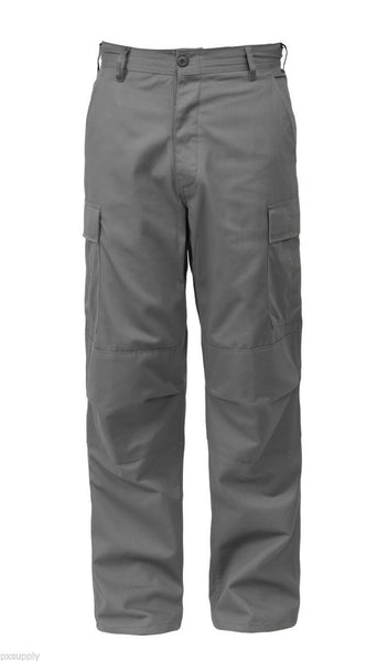 BDU Pants Military Style Cargo Grey Gray Uniform Trousers Rothco 8810