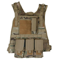 modular plate carrier vest molle camo various colors fox 65-280