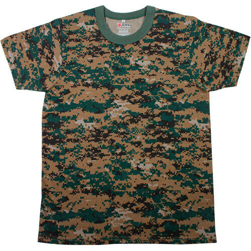Camo T-shirt Woodland Digital Camouflage Fox Outdoor 64-143 Various Sizes