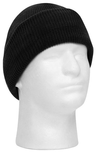 Windproof Waterproof Winter Hat Watch Cap Black Acrylic PTFE Lining Rothco 3585
