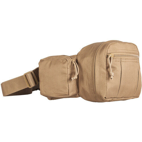 Coyote Brown Tactical Fanny Pack CCW Concealed Carry Holster Waist Bag Fox 52-58