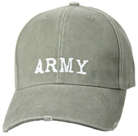 Military US Army Ballcap Cap Hat Vintage Style Olive Drab Rothco 9486