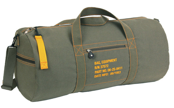 Green Large Vintage Style Military Equipment Bag Pack Shoulder Strap Rothco 2354