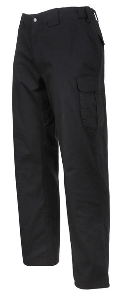 Black Tactical Lightweight Field Pants Cargo Uniform Pant Rip Stop Rothco 3751