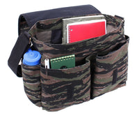 messenger bag tiger stripe camo vintage style shoulder strap canvas rothco 9858