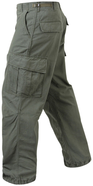 pants vintage style vietnam fatigue olive drab green cotton rip stop rothco 4387