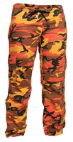 Womens Camo Pants Orange Camouflage Paratrooper Style Fatigues Rothco 3784