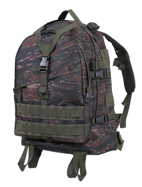 Large Military Style Transport Pack Backpack Tiger Stripe Camo Bag Rothco 7222