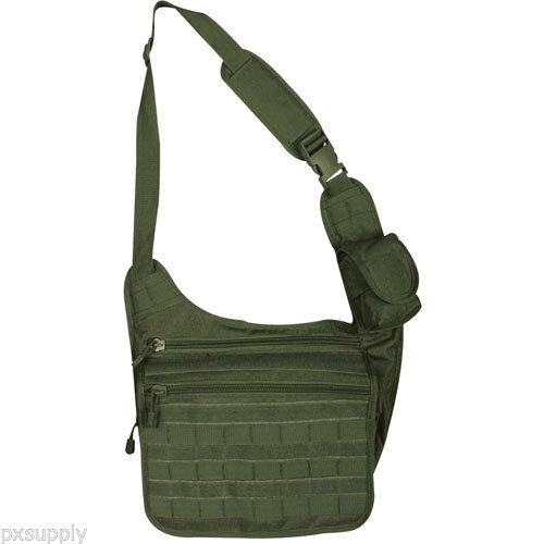 tactical messenger bag olive drab molle nylon fox tactical 51-330