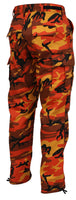 Orange Camouflage Military BDU Cargo Bottoms Fatigue Trouser Camo Pants 8865