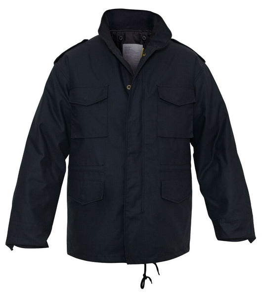 Field Jacket M-65 Removable Liner Dark Blue Military Winter Coat Rothco 8623