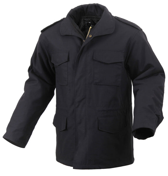 Winter Field Jacket M-65 With Removable Liner Black Military Style Coat 8444