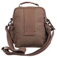 Brown Mini Compact Multi Pocket Travel Shoulder Bag with Shoulder Strap 2815