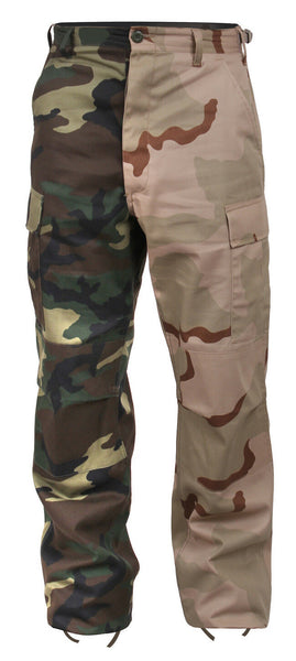 Woodland Desert Camo Two Tone Pants Military BDU Cargo Trouser Rothco 1870