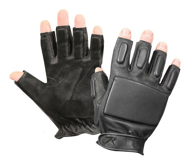 tactical fingerless rappelling gloves black rothco 3454