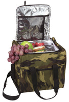 lunch box picnic bag insulated large size camping woodland camo rothco 2308