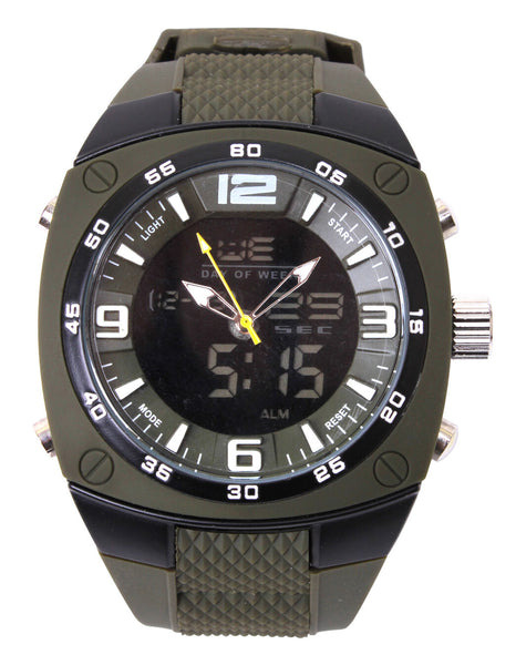Olive Drab X-Large Analog & Digital Military Style Water Resistant Watch 44882