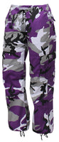 Womens Camo Pants Ultra Violet Camouflage Paratrooper Style Fatigues Rothco 3783