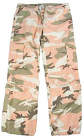 Womens Military Camo Pants Subdued Pink Camouflage Cargo Fatigues Rothco 3996