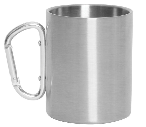 Stainless Steel Camping Mug Insulated Cup Carabiner Handle 15 OZ Capacity 8305