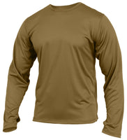 US Army ECWCS Silk Weight Under Shirt Coyote Brown AR-670-1 Rothco 3725