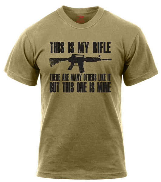 T-Shirt This Is My Rifle USMC Riflemans Creed Coyote Brown Rothco 61590